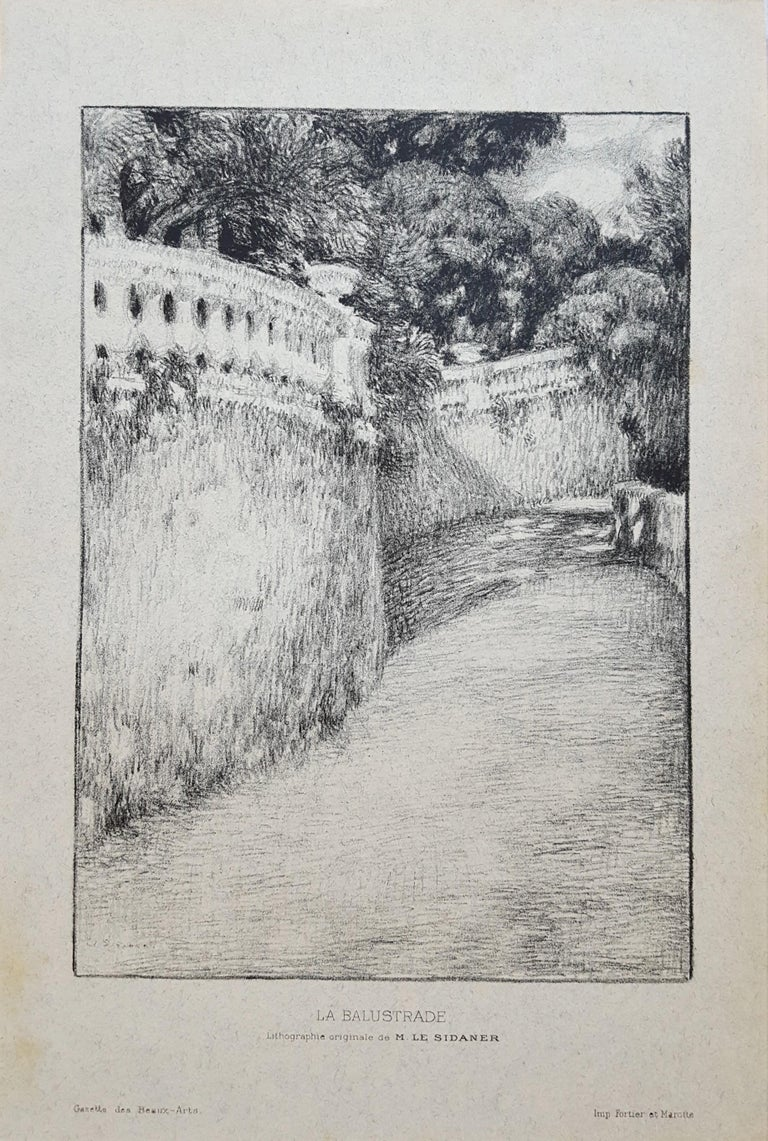 La Balustrade (The Railing) - Print by Henri Le Sidaner