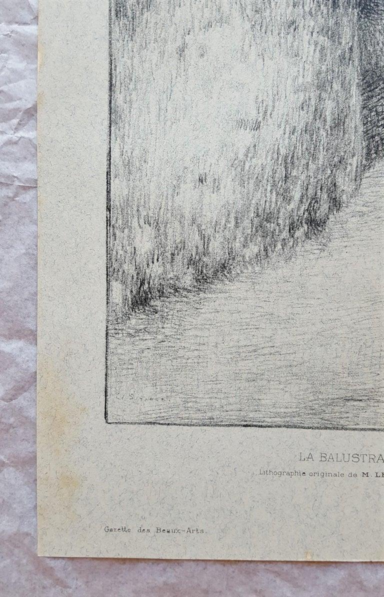 La Balustrade (The Railing) - Post-Impressionist Print by Henri Le Sidaner