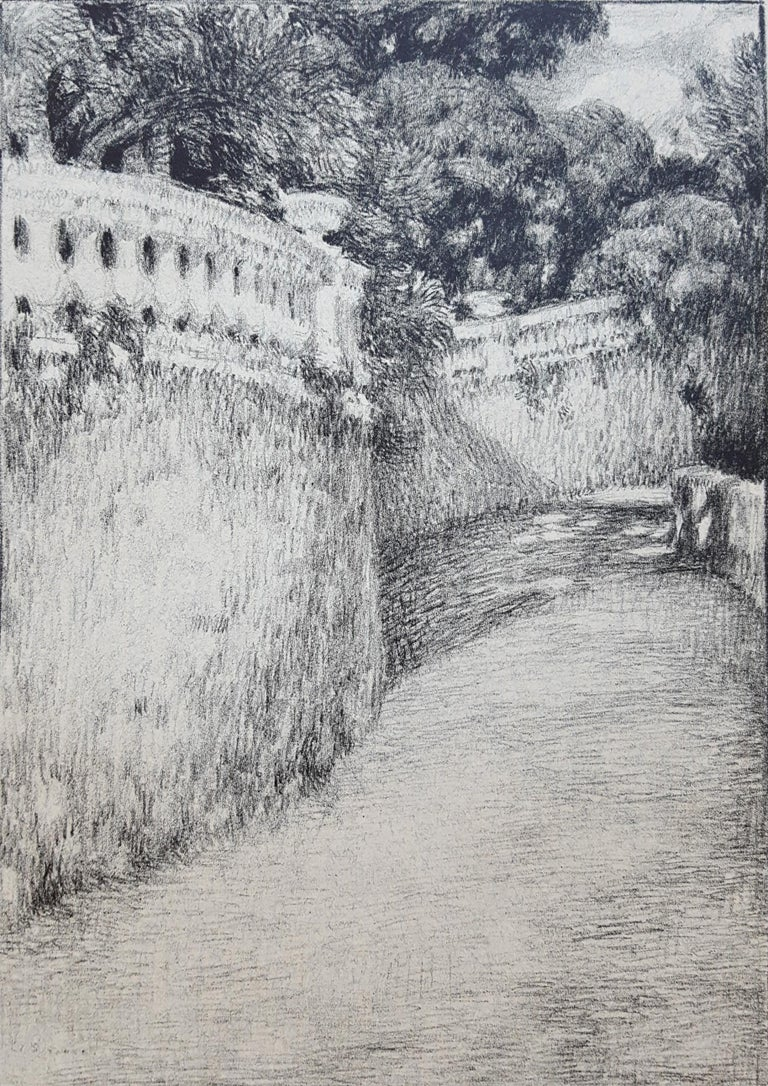 Henri Le Sidaner Landscape Print - La Balustrade (The Railing)