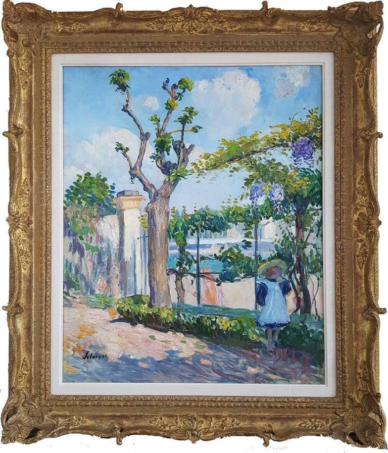 Henri Lebasque Figurative Painting - Le Jardin de Lagny - Garden with young girl