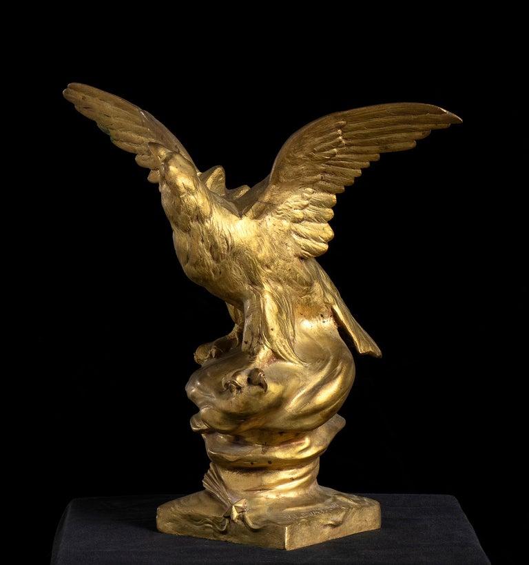 Bronze Sculpture of Eagle as Jupiter By Henri Levasseur Signed  For Sale 1
