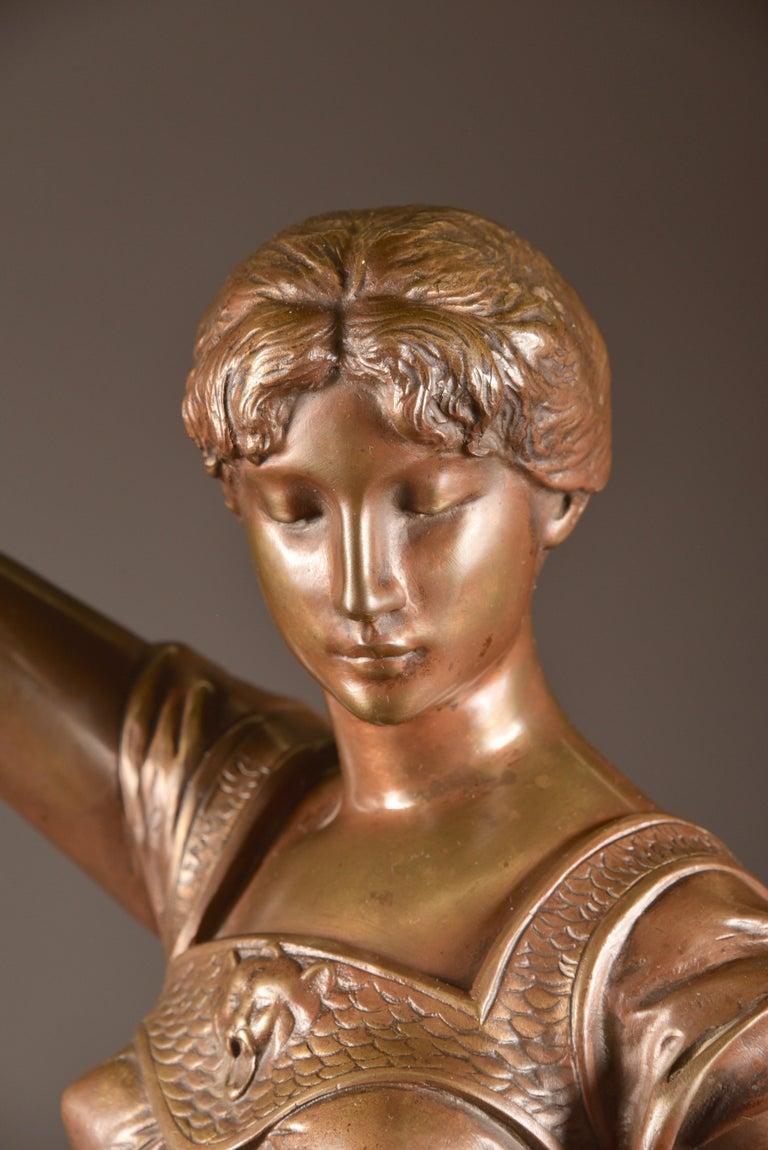 Neoclassical Henri Louis Levasseur, Bronze Sculpture