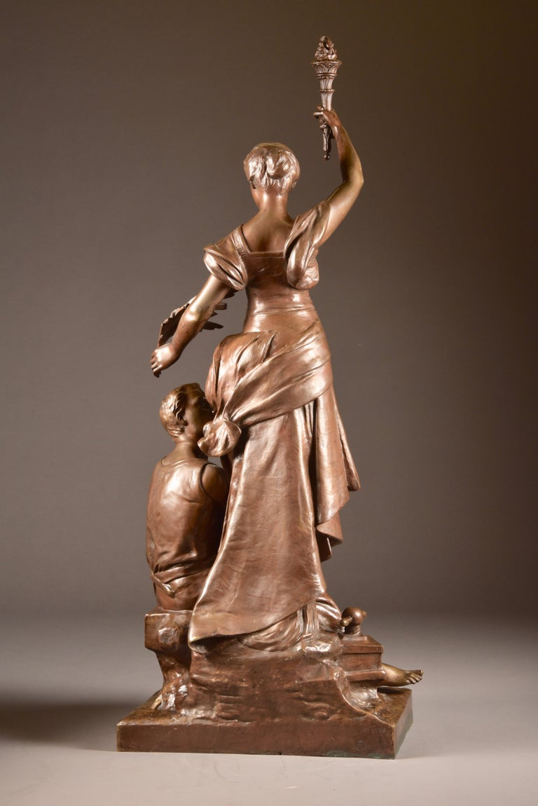 French Henri Louis Levasseur, Bronze Sculpture
