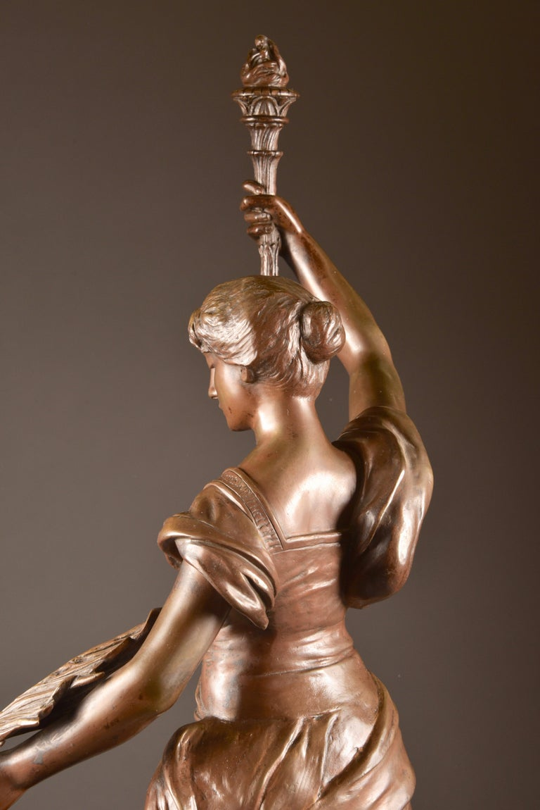 Cold-Painted Henri Louis Levasseur, Bronze Sculpture
