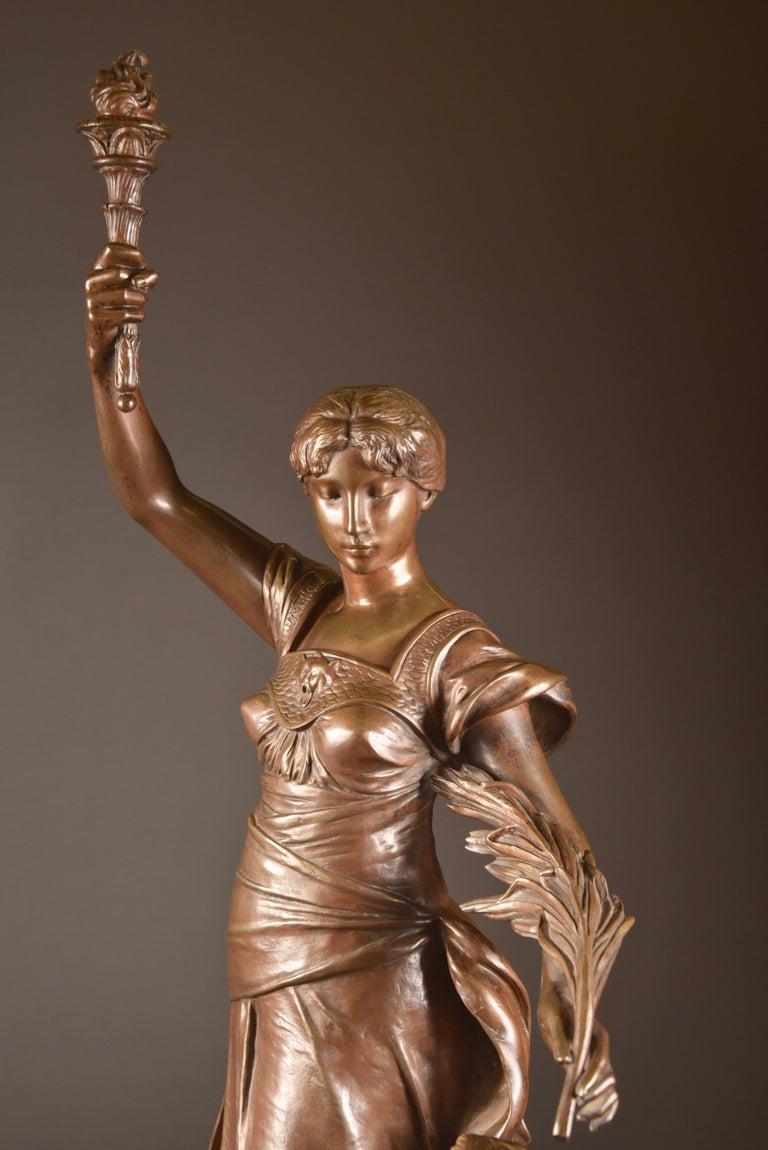 19th Century Henri Louis Levasseur, Bronze Sculpture