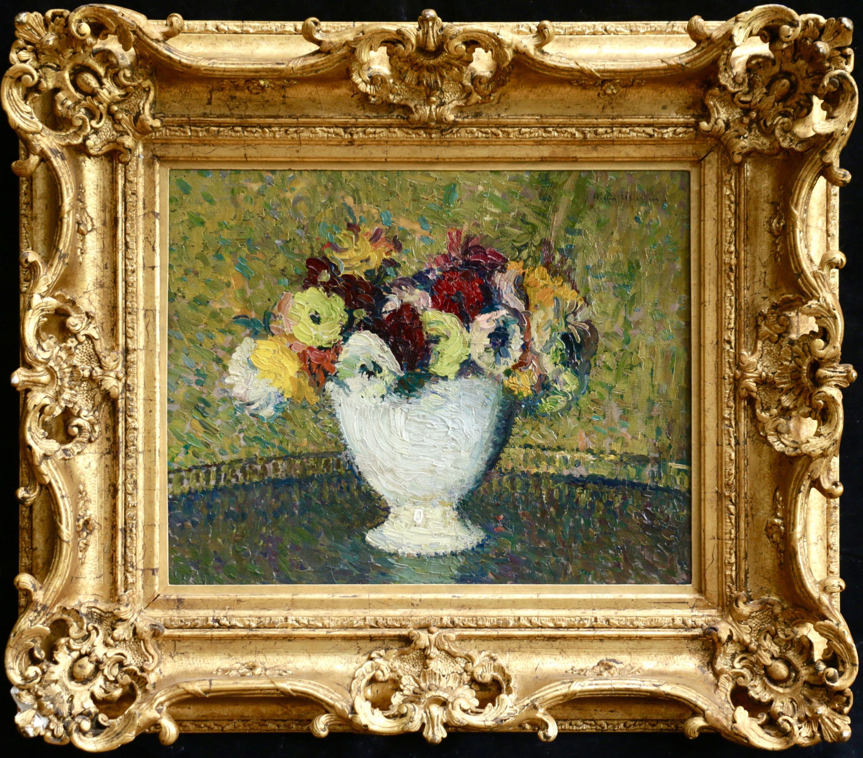 Fleurs - 19th Century Oil, Post Impressionist Still Life Flowers by Henri Martin
