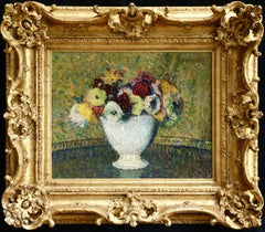 Fleurs - 19th Century Oil, Post Impressionist Still Life Flowers by Henri Martin