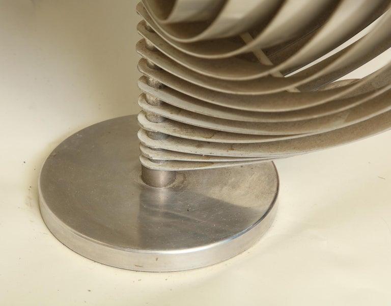 Brushed Henri Mathieu Table Lamp Mid-Century Modern Sculptural Aluminum Bands For Sale