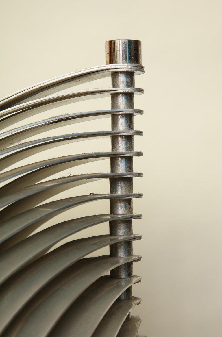 Henri Mathieu Table Lamp Mid-Century Modern Sculptural Aluminum Bands For Sale 2
