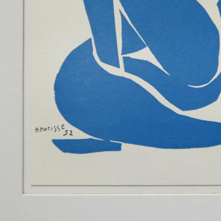 Late 20th Century Henri Matisse Bleu Lithography, circa 1980