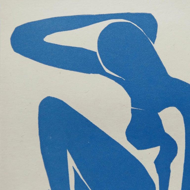 Paper Henri Matisse Bleu Lithography, circa 1980