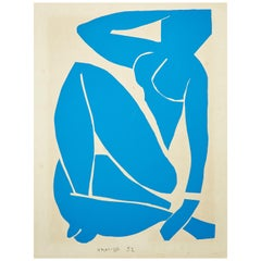 Henri Matisse Bleu Lithography, circa 1980