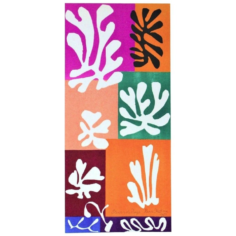Henri Matisse Fleur de Neige Original Vintage Poster For Sale