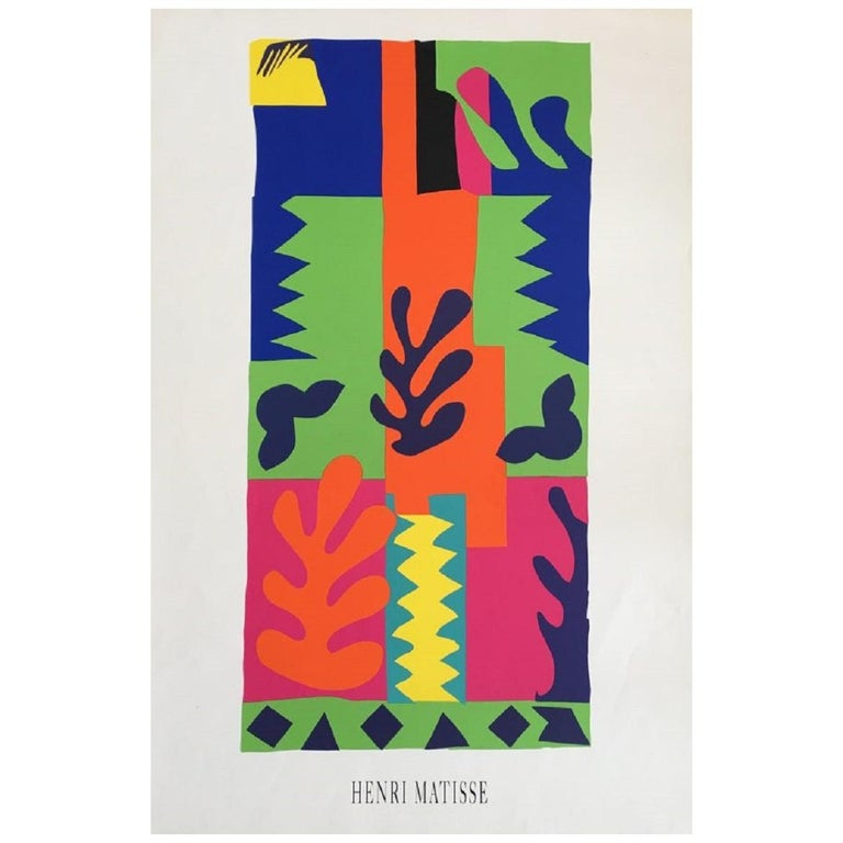 Henri Matisse Graphique de France Original Vintage Poster For Sale