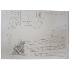 """Henri Matisse Lithograph """"Nude on a Little African Rug"""""""