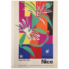 "Henri Matisse ""Nice"" Original Vintage Poster"