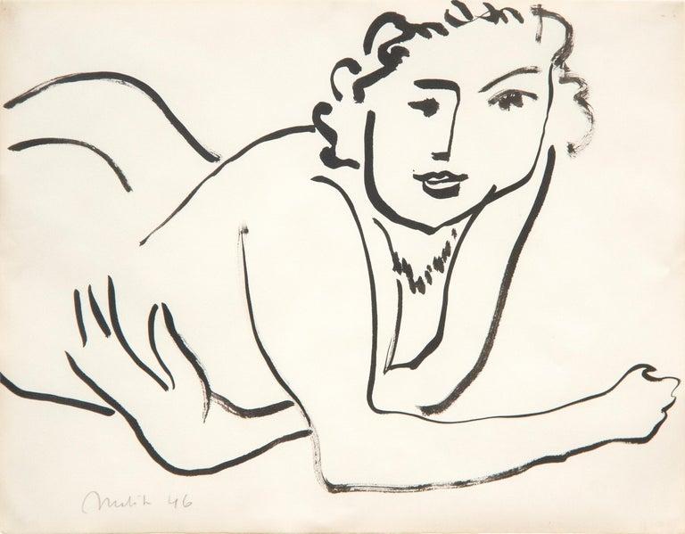 Henri Matisse Nude Painting - Nu Couché Accoudé