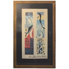 The Beast of the Sea after Matisse, framed lithograph, 1950