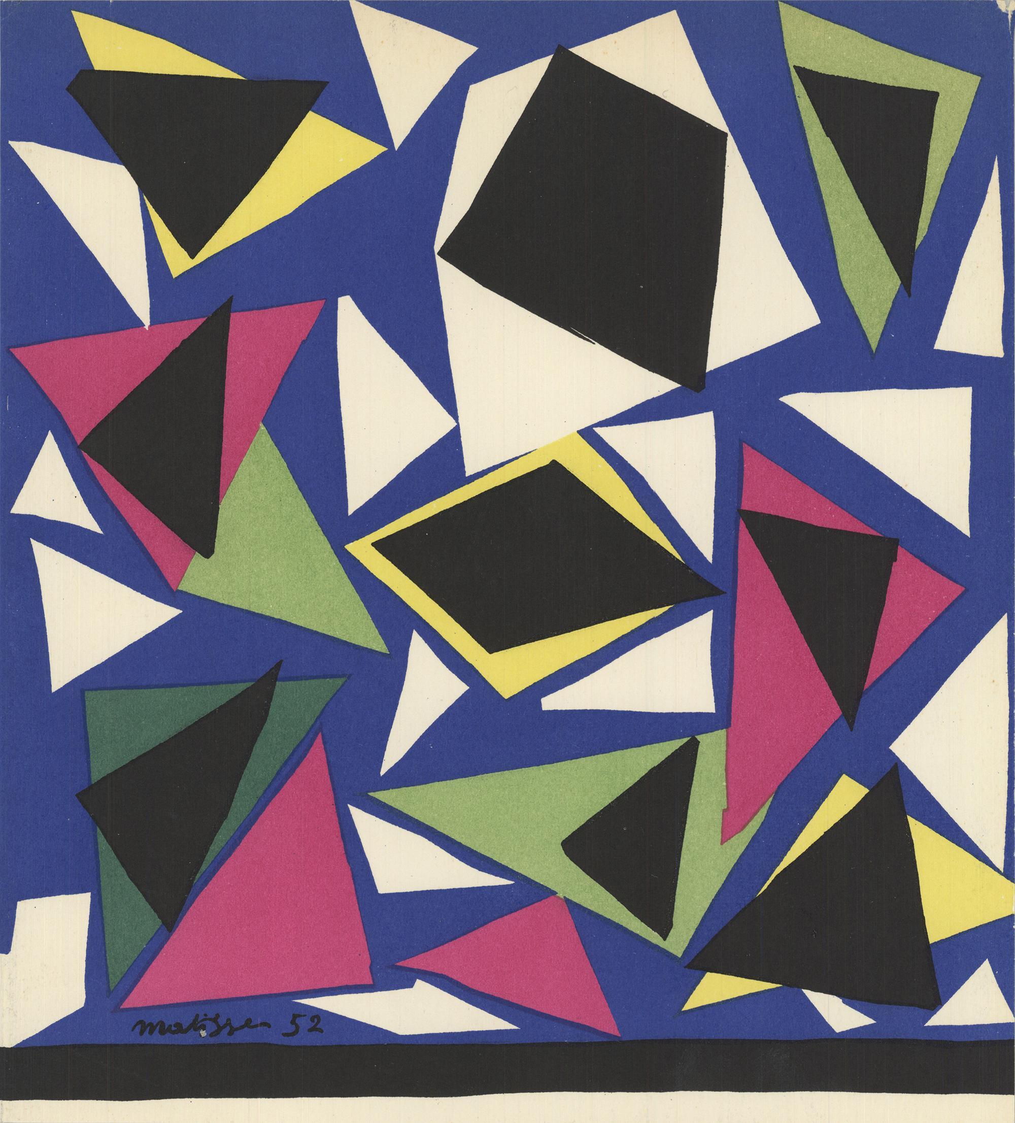 1952 Henri Matisse 'L'Escargot' Lithograph