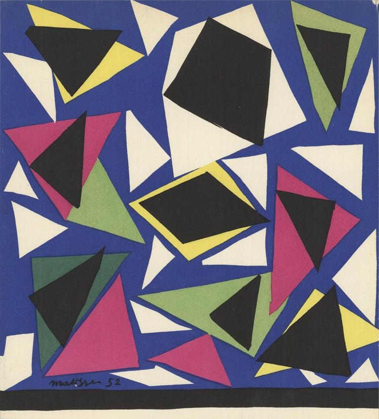 1952 After Henri Matisse 'L'Escargot' Lithograph - Print by Henri Matisse