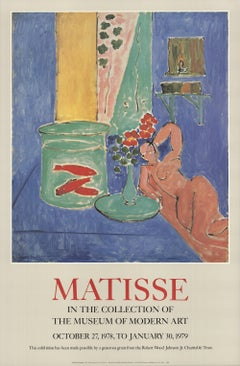 1978 After Henri Matisse 'Goldfish and Sculpture' Modernism Offset Lithograph