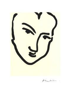 1995 Henri Matisse 'Nadia Au Visage Penche' Modernism Black & White France Offse