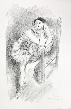 D.483 (Dancer on Wooden Armchair) from Dix Danseuses