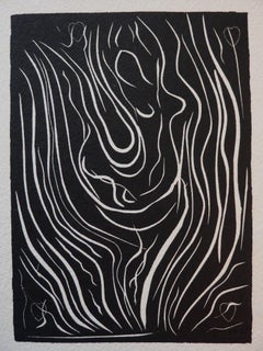 Dancer - Original linocut - Signed with the artist blind stamp - 1943