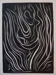 Dancer - Original linocut - Signed with the artist blind stamp - 1943