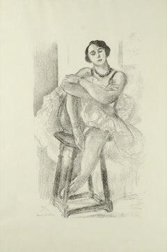 Danseuse sur un Tabouret - Original Lithograph by Henri Matisse - 1929