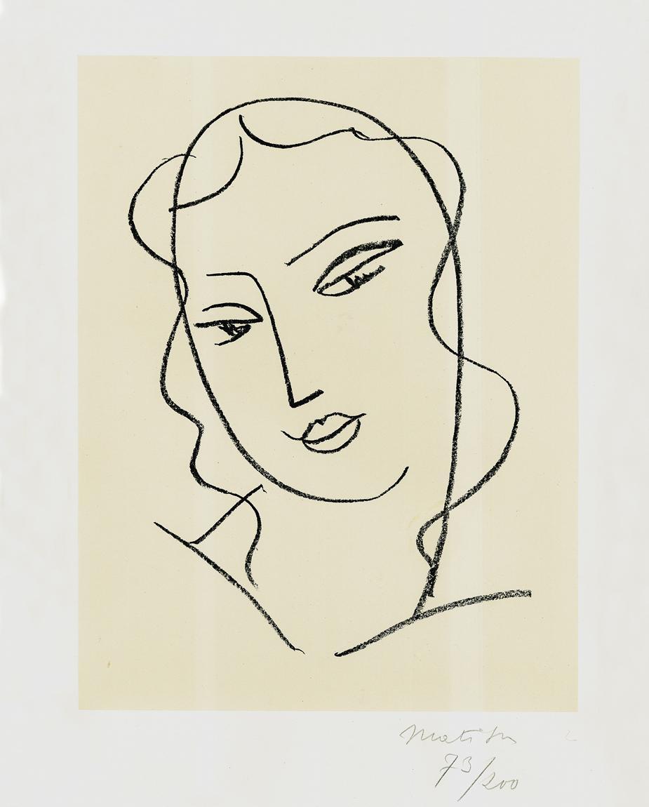 Étude pour la Vierge - Tête voilée - 20th Century, Henri Matisse, Portrait Print