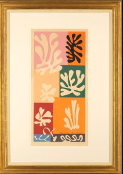 Fleurs de Neige - Matisse, cut-outs, Pochoir, French, Floral, pencil signature