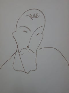 Henri Matisse - Portrait of man - lithograph - 1972