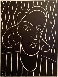 Henri Matisse (French 1869 - 1954); Teeny; Linocut