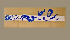 "Henri Matisse: ""La Piscine"" I & II, Lithographs after the Cut-outs, Framed Print"