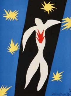 "Henri Matisse: ""The Fall of Icarus"", Pochoir, Framed Print, 1945"