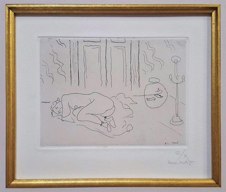 Interior with Sleeping Figure (Figure endormie dans un intérieur) - Print by Henri Matisse