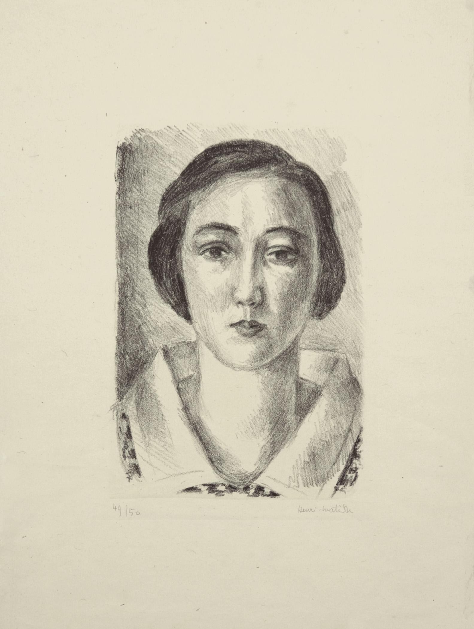 Jeune fille en robe fleurie au col d'organdi