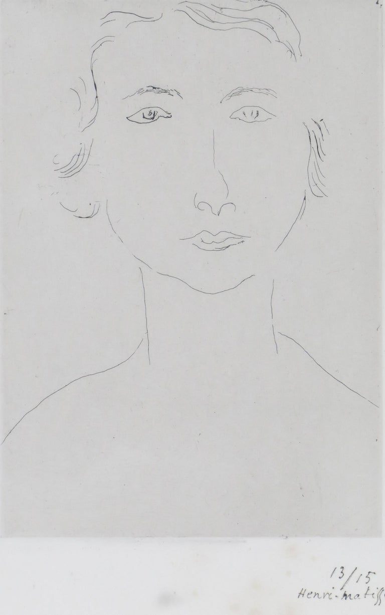 Henri Matisse Jeune Polonaise 1917/18 Etching on Chine appliqué on wove paper, Edition of 15 Paper size: 38 x 28.5 cms (15 x 11 1/4 ins) Plate size: 18 x 12.7 cms (7 x 5 ins) HM16662