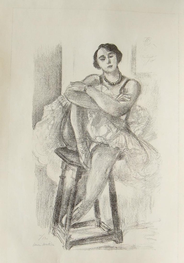 La Danseuse sur un Tabouret - 1920s - Henri Matisse - Lithograph - Modern - Print by Henri Matisse