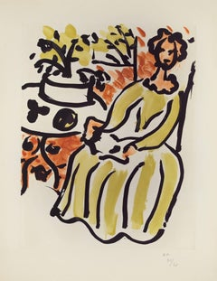 Marie-José en robe jaune