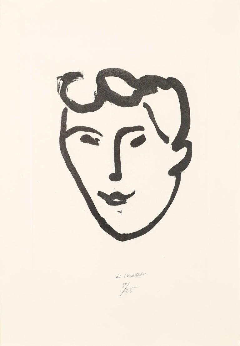 Henri Matisse Portrait Print - Masque aux rouleaux