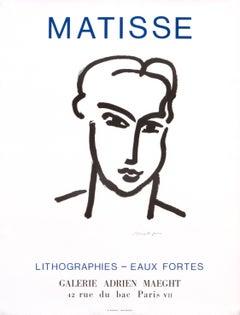 """Matisse Lithographies - Eaux Fortes, Galerie Adrien Maeght"" Exhibition Poster"