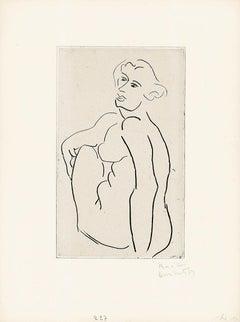 Nu assis, le dos vu de trois-quarts - 20th Century, Henri Matisse, Nude, Woman