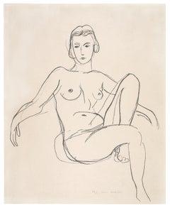 Nu assis les bras étendus - Henri Matisse, Print, Lithograph, Expressionist