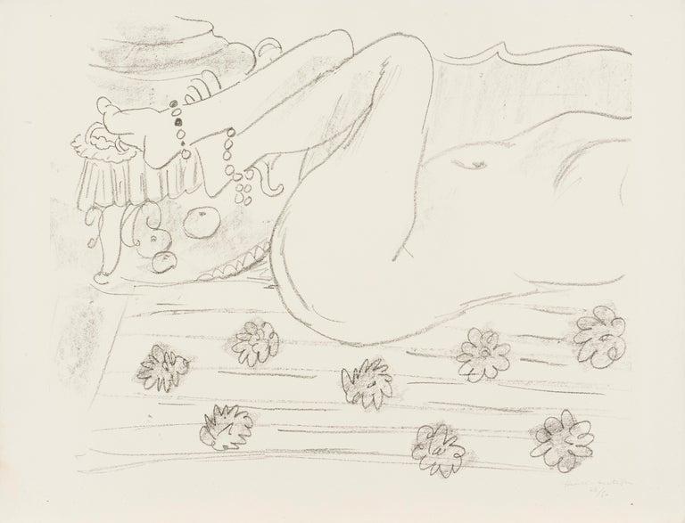 Henri Matisse Nu. Étude d'un mouvement de jambes 1929 (printed in 1935) Lithograph on Arches paper, Edition of 50 Paper size: 50 x 66 cms (19 3/4 x 26 ins) Image size: 43.3 x 55.5 cms (17 x 21 7/8 ins) HM16555