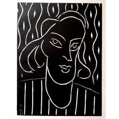 Original Linocut - Henri Matisse - Teeny
