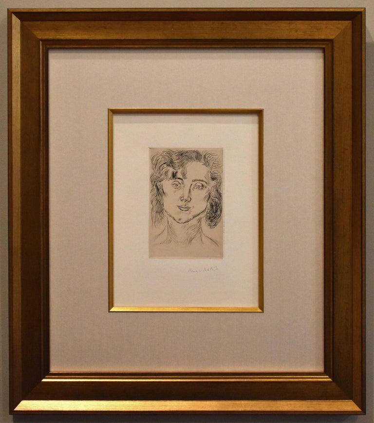 Henri Matisse Portrait Print - Portrait of Mlle. Marguerite Matisse