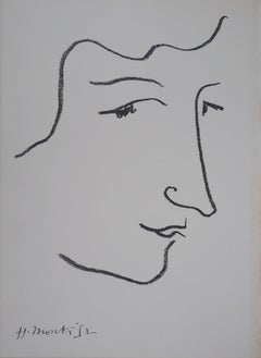 Profile Portrait of Colette - Original lithograph (Referenced in Duthuit #29)