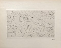 Study of Nudes - Original Etching - 125 copies - Stamp Signed